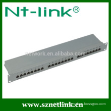 1u 19inch 24 port cat5e rj45 stp blank patch panel