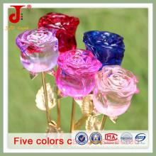 Небольшие размеры Кристалл бутон Розы цветок украшения (СД-Ср-104)