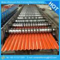 Máquina de moldagem de rolo ondulado, fabricantes de máquinas de formação de rolos, máquina de formação de rolos de telhados metálicos portáteis