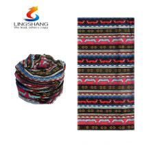hot new products for 2016 lingshang cashmere wholesale screen printed face mask headband seamless bandana