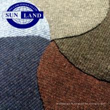 tissu tricoté de coton coloré polyester éponge français