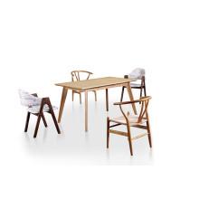 Mesa de jantar de madeira para casa e mobília do hotel