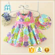 2016 new models little kids clothing cotton summer wholesale frock girls dress polyester clothes baby