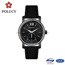 Fabrik OEM Schwarz Farbe Armbanduhr für Frauen