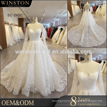 Guangzhou Factory Real Sample Latest Alibaba wedding dress with Big Backless