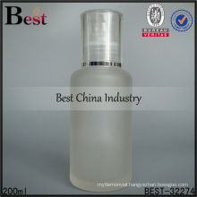 200ml cosmetic frosted glass bottle with plastic spray, empty packaging bottles, skin care cosmetic bottle