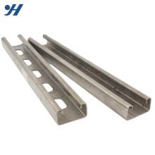 Dimensions en acier de haute qualité fabriquées en C, canal en acier au carbone galvanisé