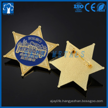 Custom high quality military cap star badge
