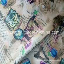 100% poliéster tecido de malha tafetá estampado de moda