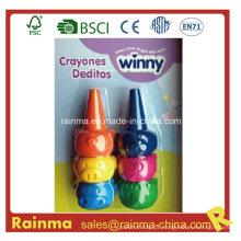 3D Animal Finger Crayon 6PCS para crianças Paint Gift