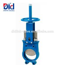 Dn400 neumática con válvula de compuerta de esclusa de esclusa de vástago de hierro dúctil precio
