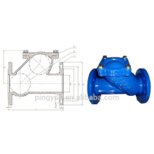 Grey iron spring loaded dual plate water butterfly check valve