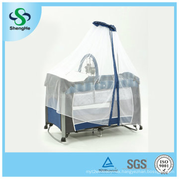 Foldable Aluminum Baby Crib with High Mosquito Net (SH-A1)
