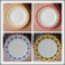 atacado granel prato de jantar, prato de cerâmica chinesa, moderna placa de jantar