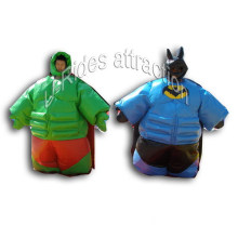 Green Man Inflatable Sumo Suit with Ground Mat