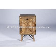 Industrial Reclaimed Kleine Schrank Schlafzimmer Möbel Holz Nachttisch