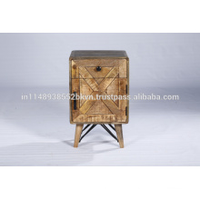 Industrial Reclaimed Small Cabinet Bedroom Furniture Wooden Nightstand