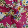 Chiffon Scarf Dress Fabrics with Flower Printings