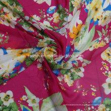 Chiffon lenço vestido tecidos com flores impressão
