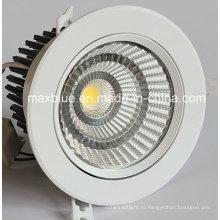 Отверстия Размер 140мм 30W 35W CREE / Epistar COB Светодиодные потолочные светильники