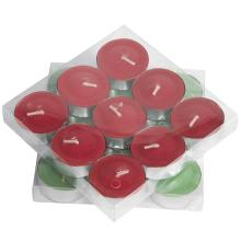 14g Color Candle tea tin Red Candles