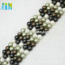 Perlas de agua dulce naturales redondas perfectas de 4 mm