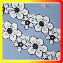 China New Product for Chemical Lace Trimming Beautiful flower embroidery lace on 2018 export to France Exporter
