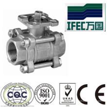 Vanne à bille sanitaire en acier inoxydable 3PC (IFEC-BV100013)