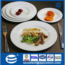 hotel table service dinner plates, white ceramic pasta plate, steak plate, dessert plate