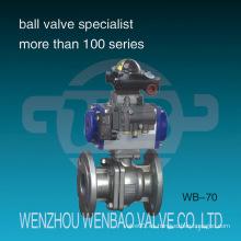 Válvula de bola flotante flotante accionada neumática de 2 vías