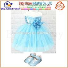 Venta al por mayor de China de alta calidad bebé niña vestido de fiesta niños frocks diseños