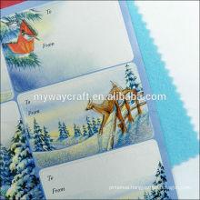 cheap happy holidays custom print sticker,glitter sticker