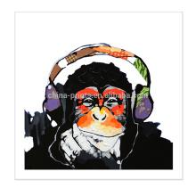 Décoration murale Peinture animal de singe Art sur toile pour salle de séjour