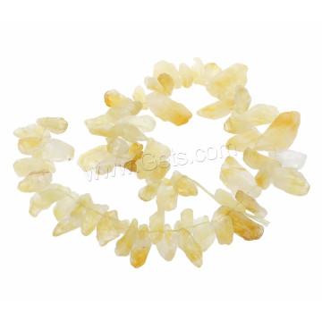 Edelstein-Chips Perlen November birthstone 76pcs / Strang natürliche Citrin Perle