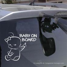 Auto Dekoration Vinyl Aufkleber Tip Baby an Bord Auto Aufkleber Aufkleber, benutzerdefinierte gestanzte Aufkleber für Auto