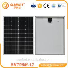 Impermeable IP67 Fabricante China 12V 95W MONO Panel Solar Precio Uganda
