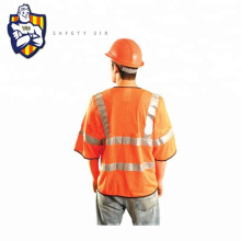 Fluorescent high visibility security  shirt with reflective