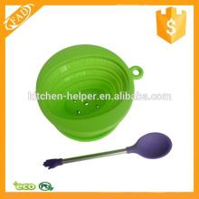 Cuchara de té portátil de silicona portátil cuchara de silicona