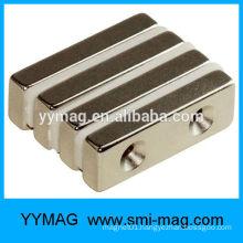 Neodymium magnet block with screw hole