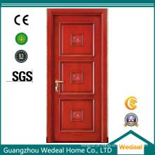 Porta de painel americano de madeira maciça de alta qualidade para uso interior