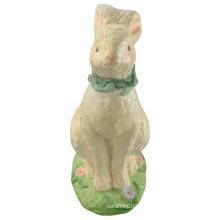 Animal em forma de coelho de cerâmica para a decoração de páscoa