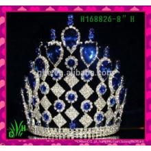 Novos designs de strass, a mais recente jóia, barata, alta, representação histórica, grande coroa