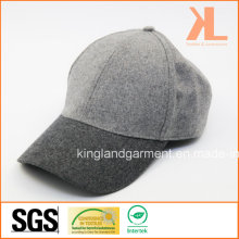 Polyester & Wool Quality Warm Plain Gray Baseball Cap