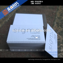 Custom shape letterpress paper funky business cards