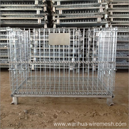 Foldable Stacking Wire Mesh Container