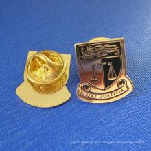 Goupille plaquée or en argent personnalisée, badge Justitia (GZHY-LP-032)