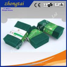 Tampon à récurer vert oxyde d'aluminium / oxyde d'aluminium