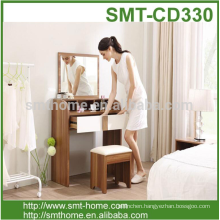wooden grain melmained Particile board Modern large simple cheap dressing table