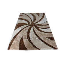 Modern Beige Polyester Rugs, Contemporary Design Patterned Shaggy Rug Carpet