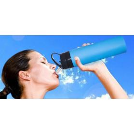 Silicone straight body water bottle